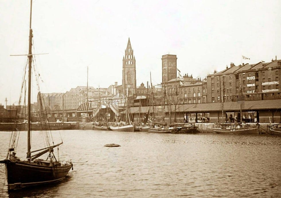 George's Dock in Liverpool, 1897.
