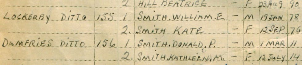 Eleanor's ancestors' (S)cottages in the 1939 Register