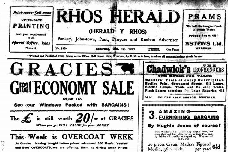 Rhos Herald old newspaper archive
