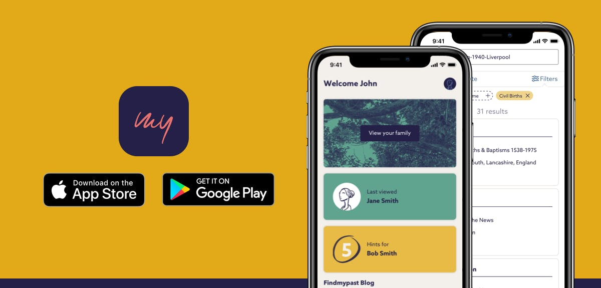 Download Findmypast app