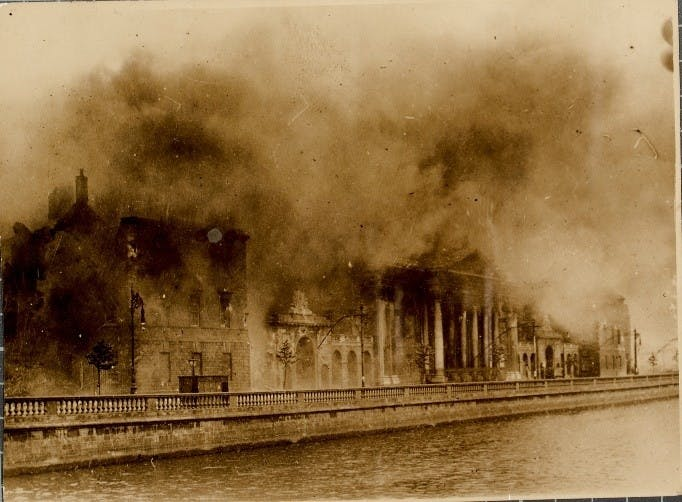 Fire at the Public Records Office of Ireland, 1922