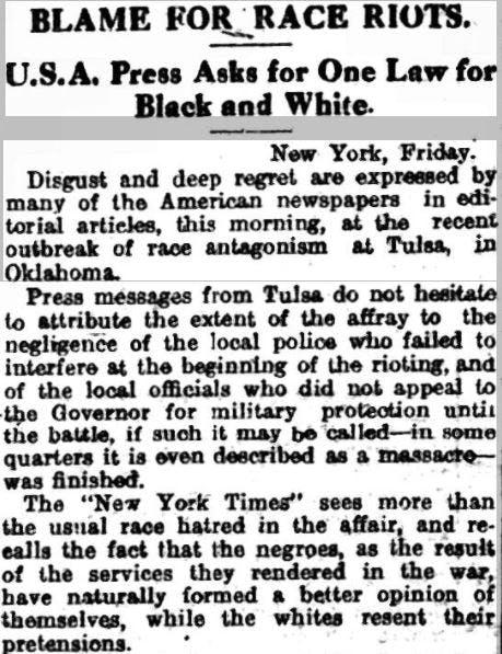 Who started the Tulsa race massacre?