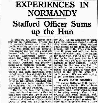 Staffordshire officers at D-Day