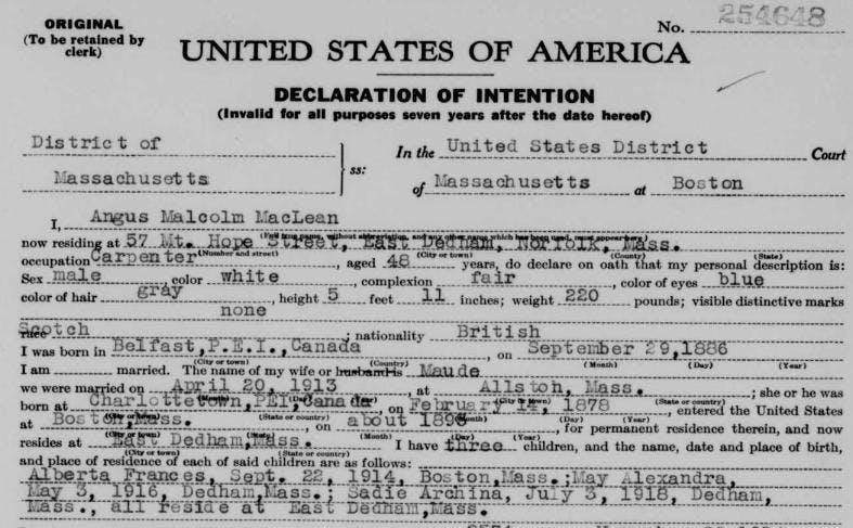 US naturalization records
