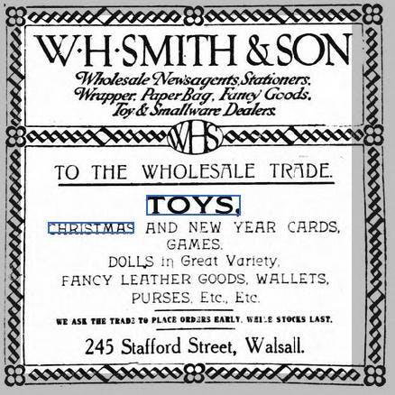 WH Smith Christmas ad, 1911