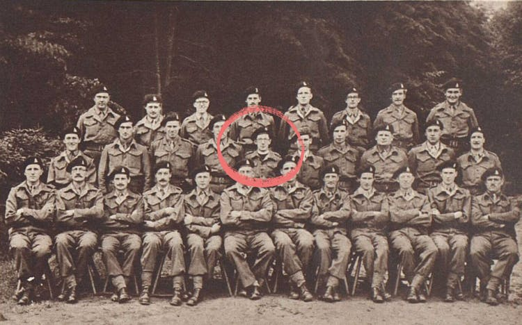John with his regiment in 1945.