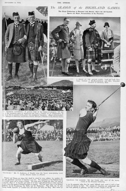 The Highland Games, 1928