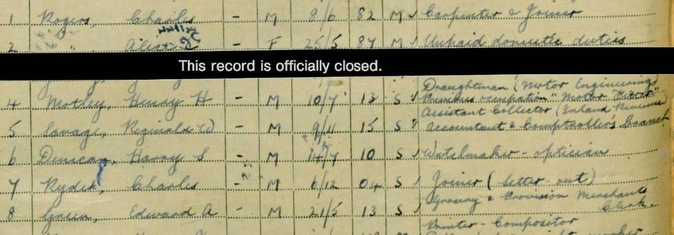 Findmypast member, Valerie Woolley's father in the 1939 Register.