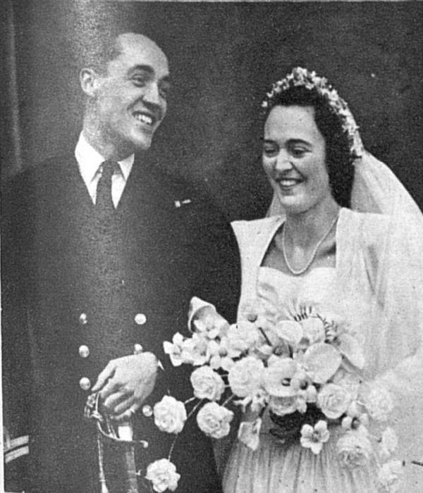 Tom's grandparents on their wedding day