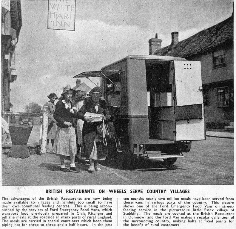 British restaurants on wheels, WW2