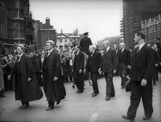 Winston Churchill on VE Day