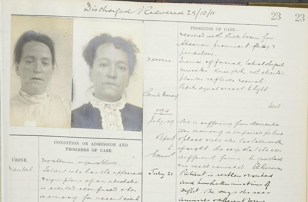 Many of Findmypast's Bethlem records include photographs