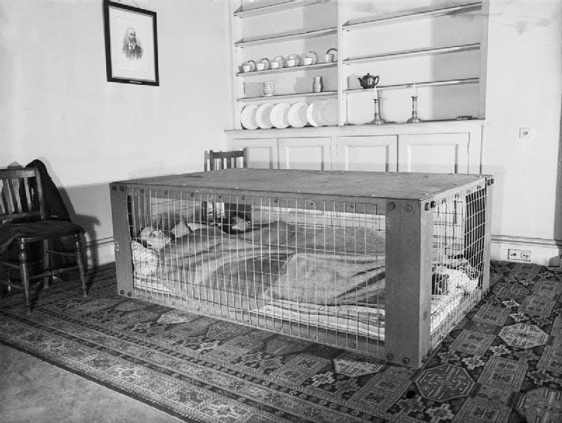 Morrison air raid shelter