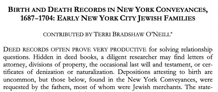 New York birth and death records