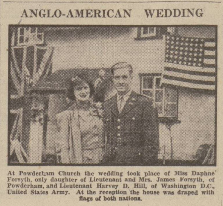 Anglo-American weddings during wartime