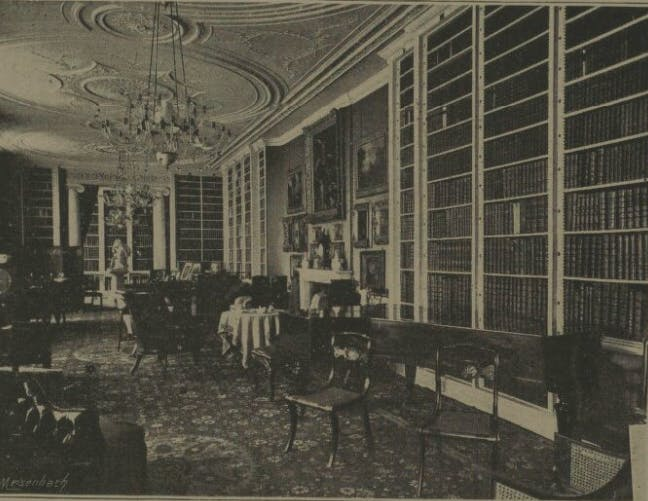 Althorp House library in 1892