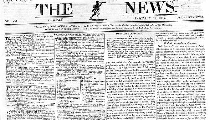 Old London newspapers