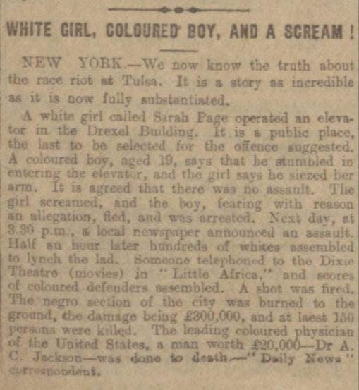 The story behind the Tulsa Race Massacre