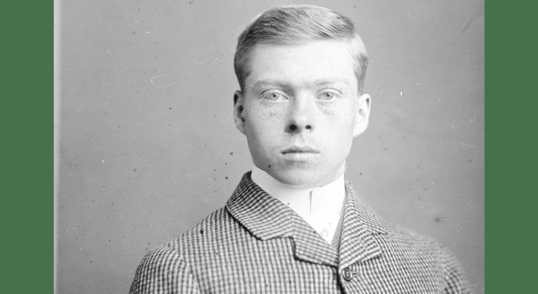 vintage schoolboy portrait