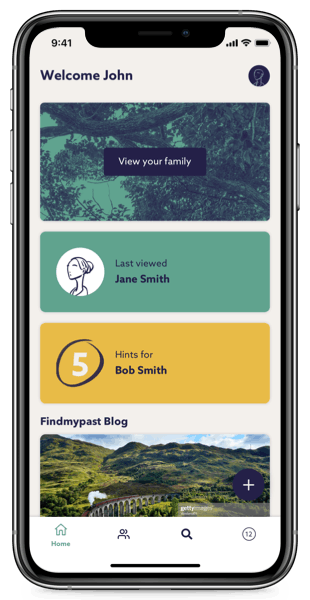 The Findmypast mobile app