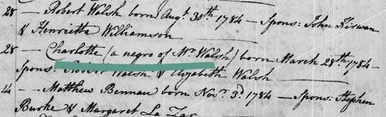 Slaves in Catholic records