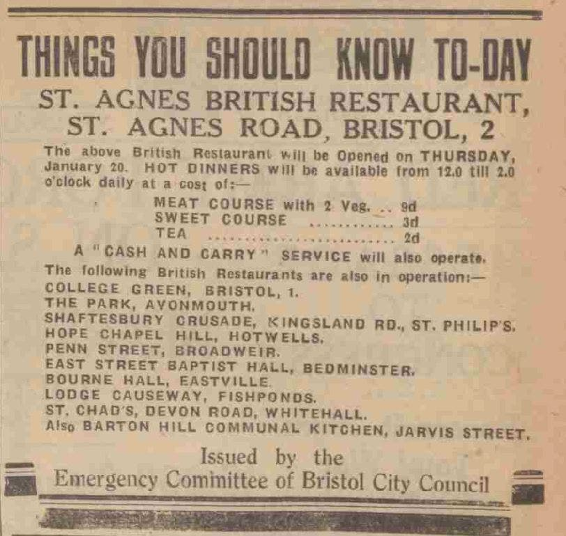 British Restaurants in WW2