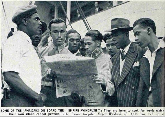 The Windrush newspaper photo