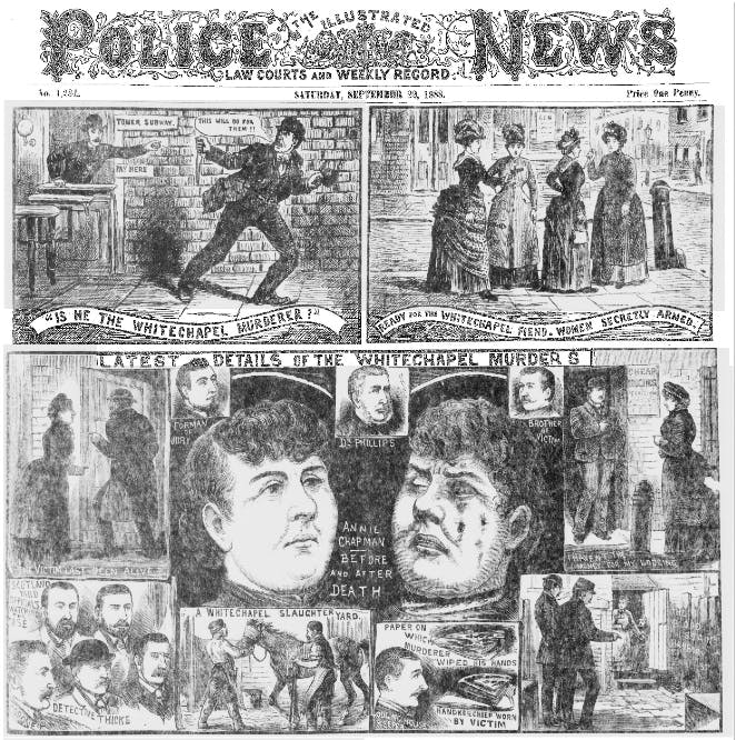 Jack the Ripper in Illustrated Police News.