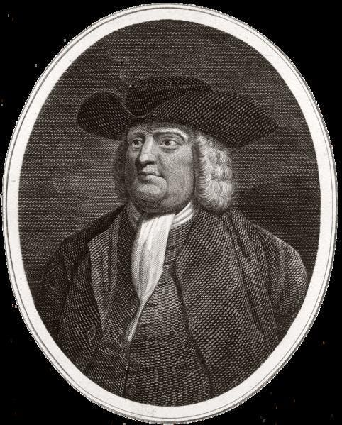 William Penn, the most famous Quaker leader and an important figure in the early development of Philadelphia and Pennsylvania.