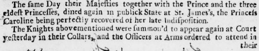 All of the above quirks can be seen on display here, in the Stamford Mercury - Thursday 09 January 1729