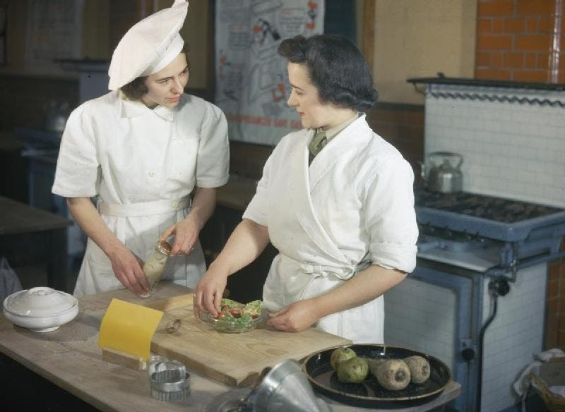 Chef in wartime Britain