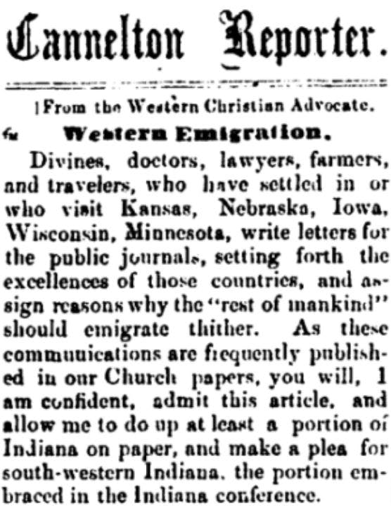 Old immigrant newspaper story