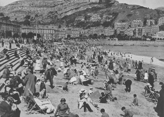 Vintage seaside photo of Llandudno