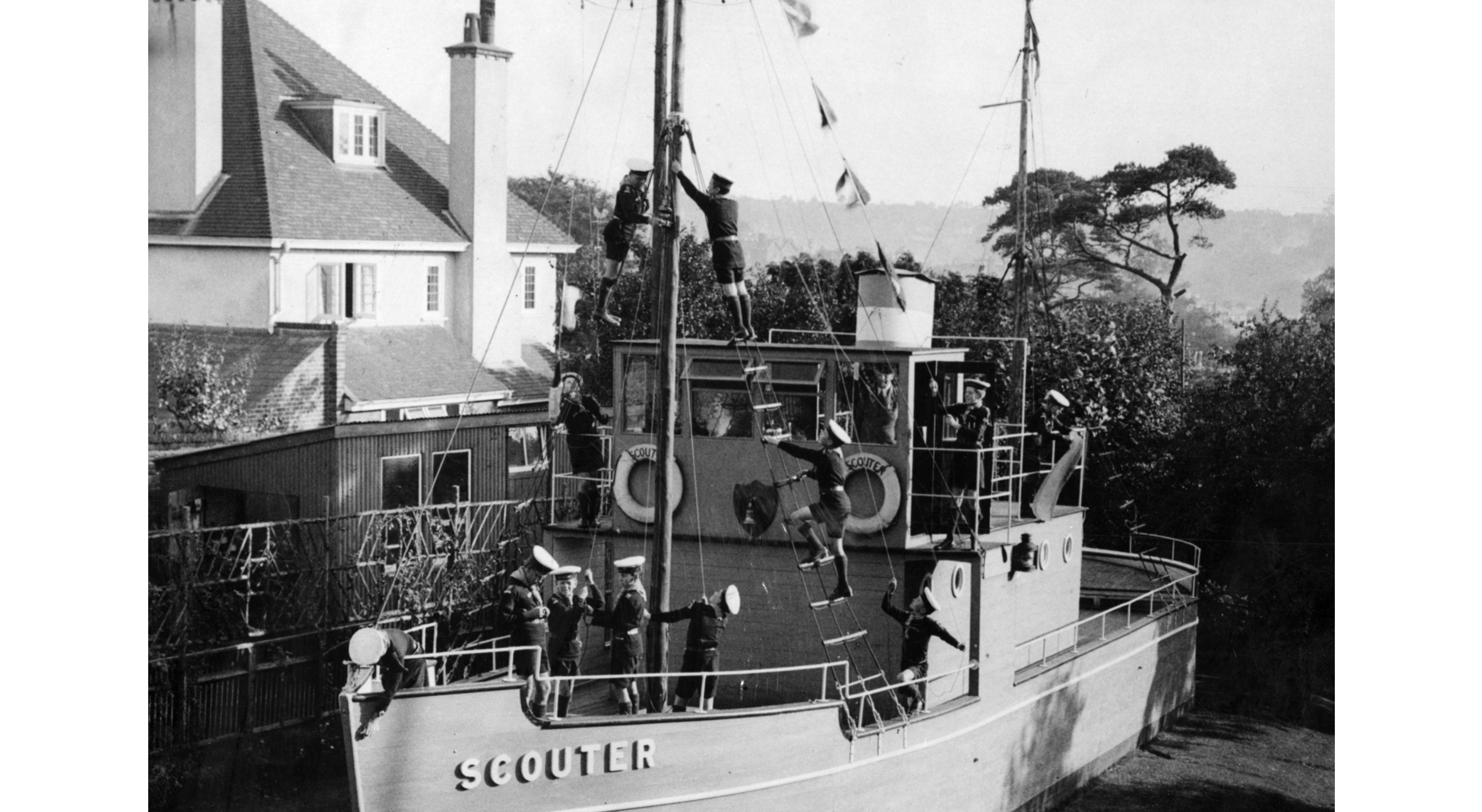 vintage photo of a steampship.