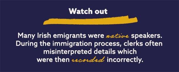 Irish migration records