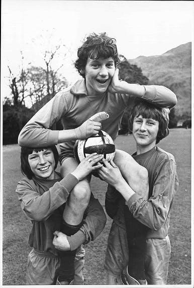 Schoolboy footballers, 1970s