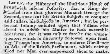 John Hancock oration, 1774.