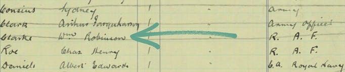 William Clarke Robinson went back to Jamaica after WW1