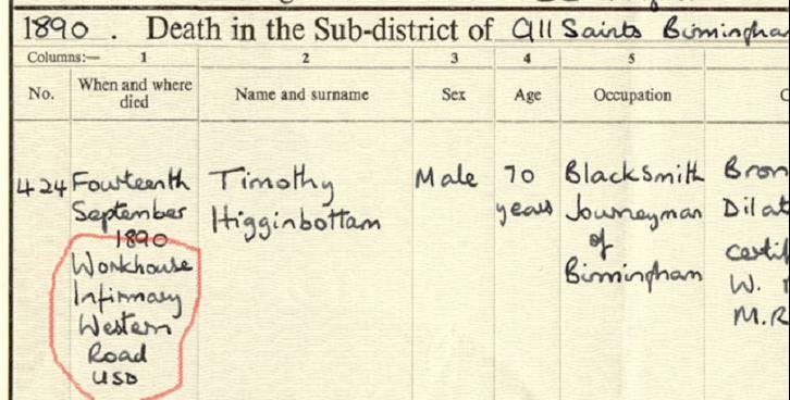 Peter's great-great-grandfather Timothy lived to the impressive age (for the time) of 70