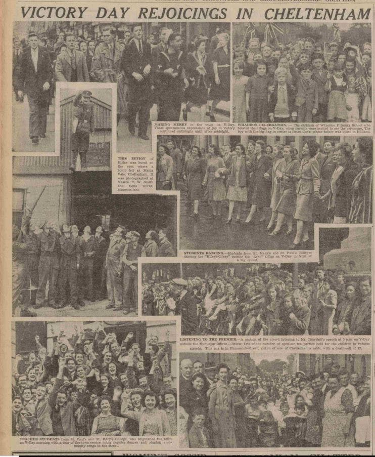 VE Day in Cheltenham, 1945