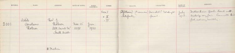 Adele's school record