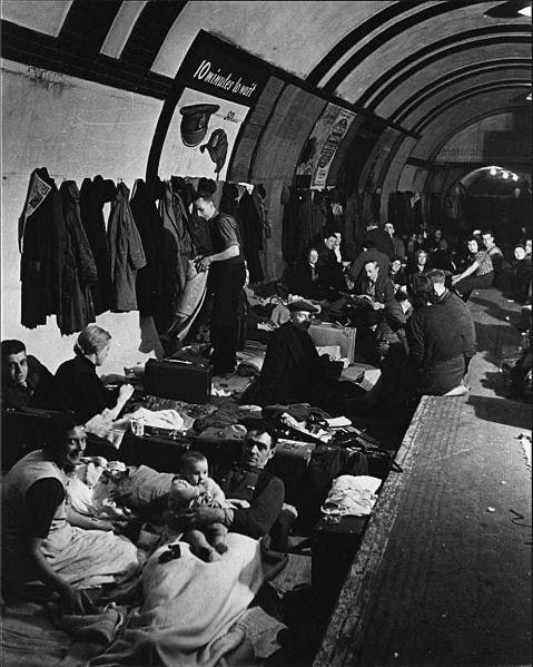 Aldwych underground station air raid shelter