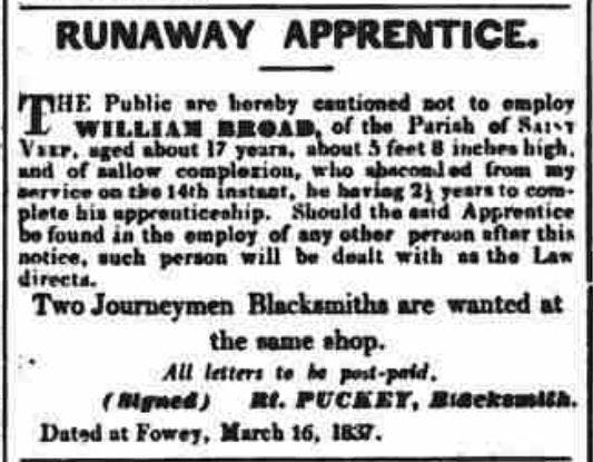 Found in Western Courier, West of England Conservative, Plymouth and Devonport Advertiser March 22, 1837