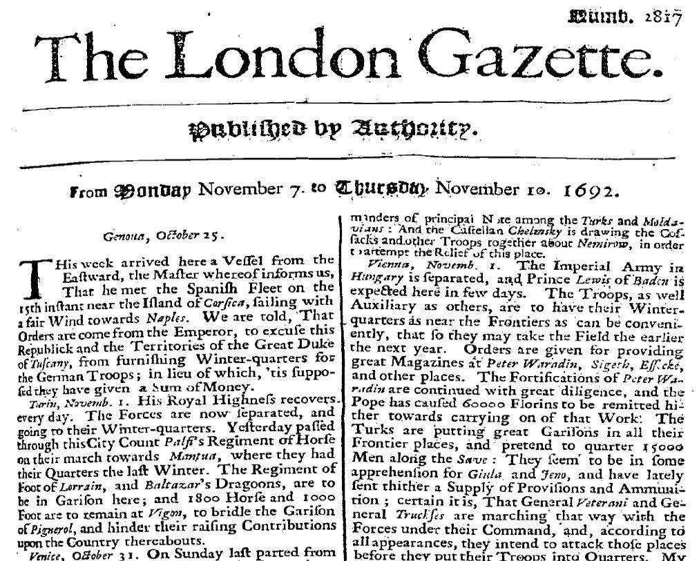 Search London Gazette online