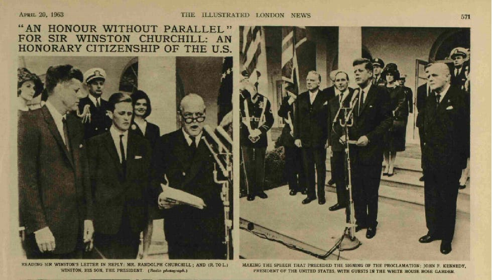 Winston Churchill Honorary US Citizen