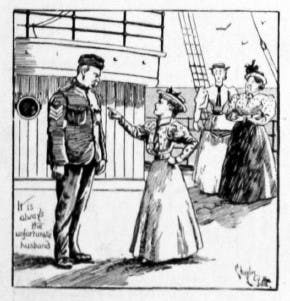 Wives on board an army ship