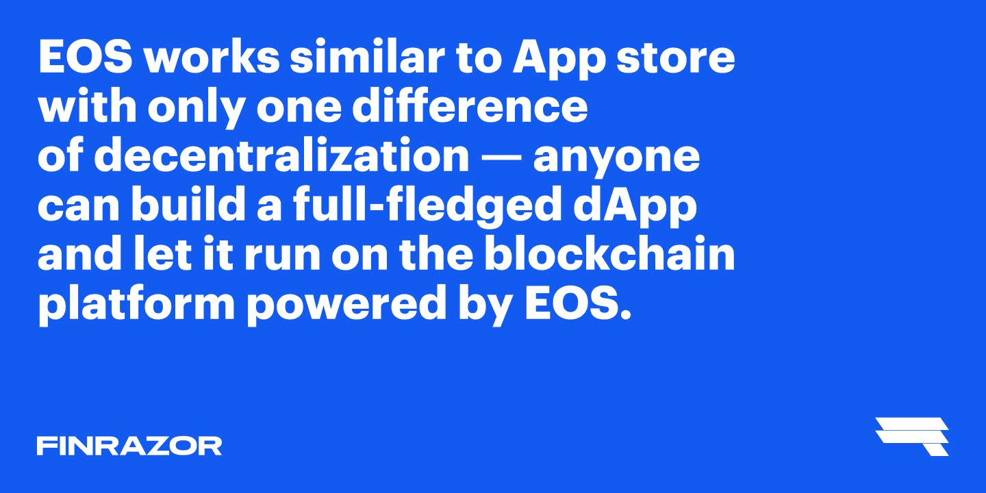 EOS is all about decentralization
