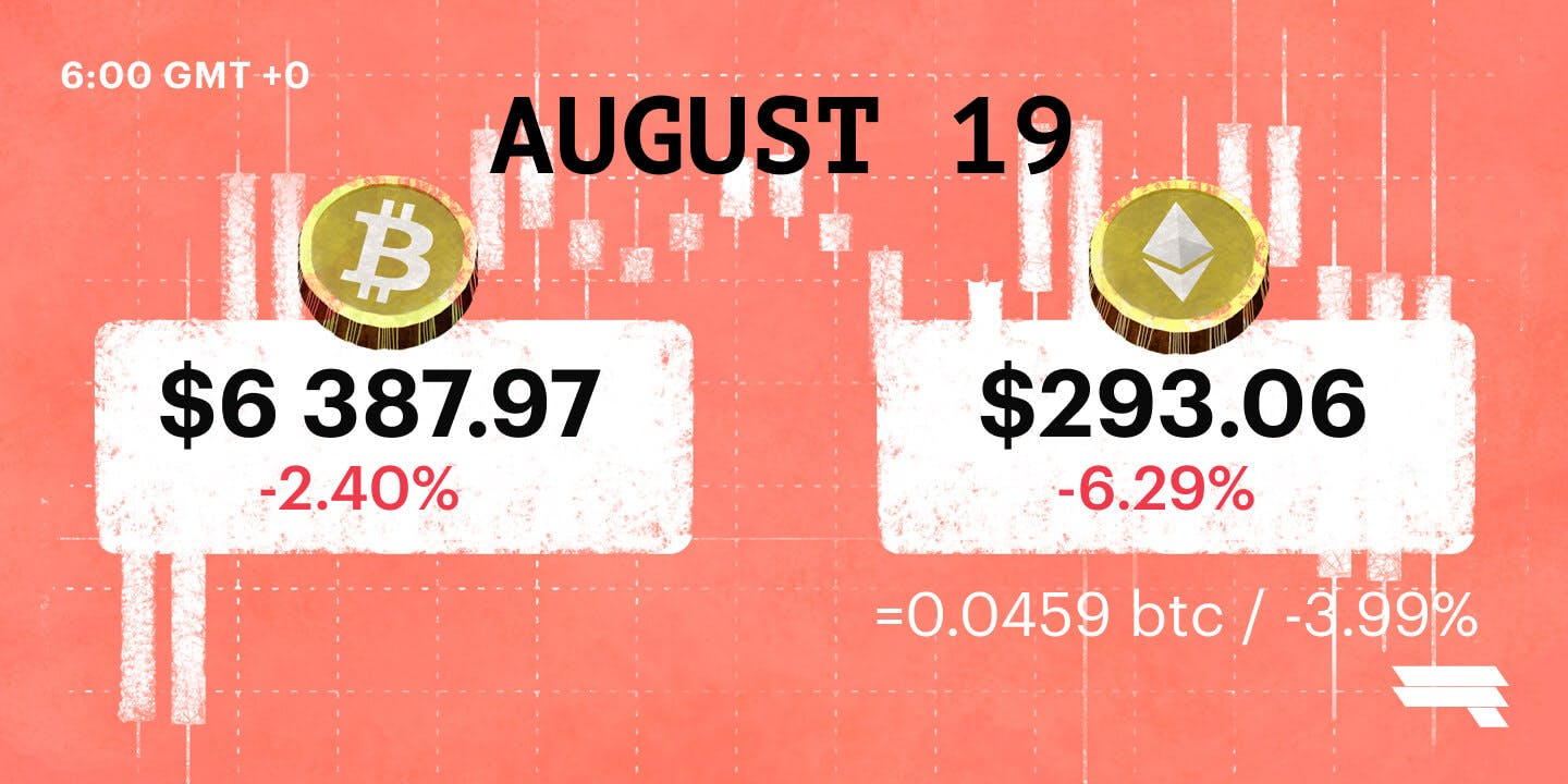 August 19 '18 BTC & ETH Daily Rates
