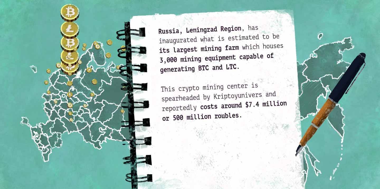 4,000 Square Meter Crypto Mining Farm in Russia