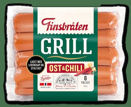 Grillpølser med Chili & Ost 440g